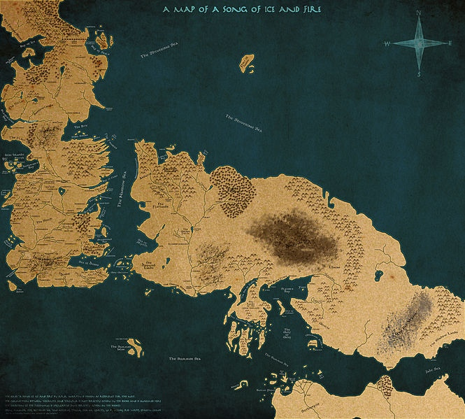 The World of \'A Song of Ice and Fire\' Map – wifofoo